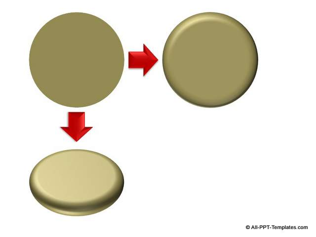PowerPoint Circle with 3D Bevel
