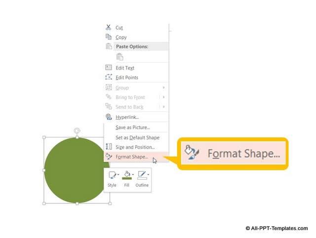 Format shape option to get to 3D bevel