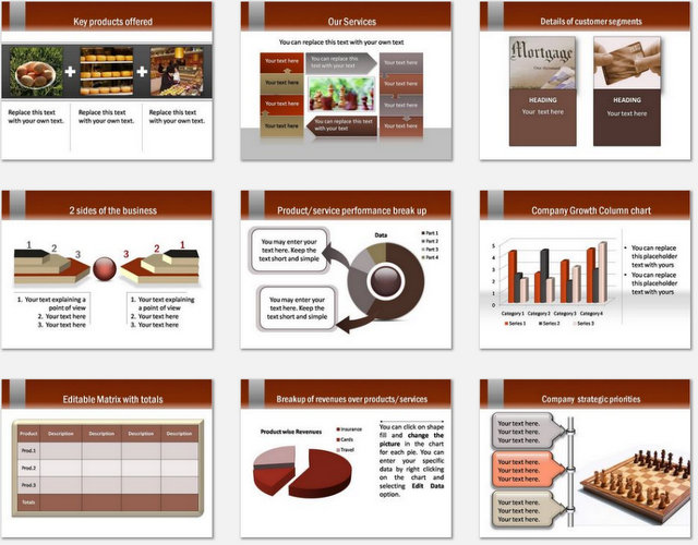 PowerPoint Visiting Card Charts 2