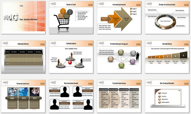 PowerPoint Marketing Blog Charts 2