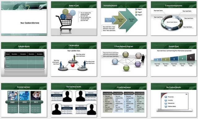 PowerPoint Online Shopping Charts 2