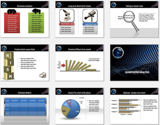 PowerPoint Risk Growth Analysis Charts 2