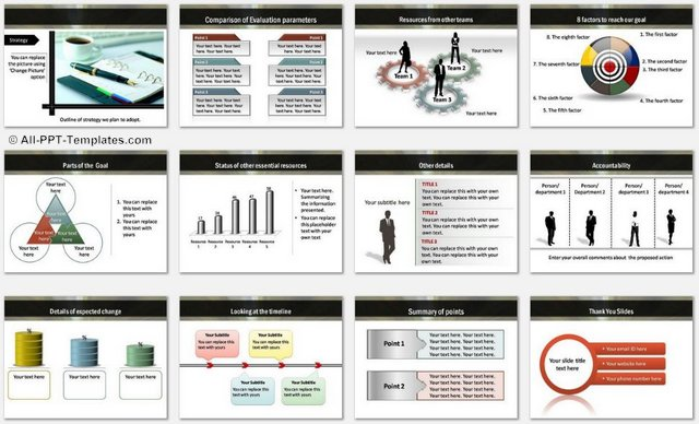 PowerPoint Strategic Roadmap Charts 2