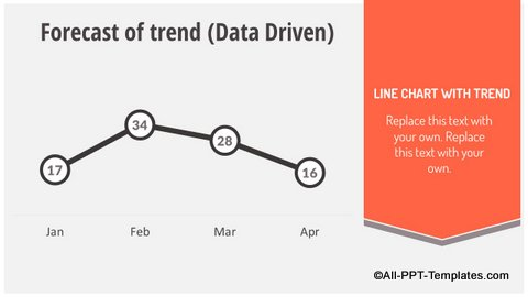 Line Chart Infographics Slide
