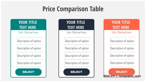 Comparison Table Slide
