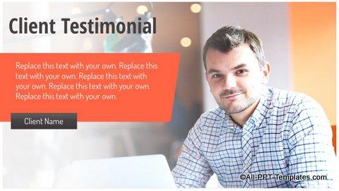 Client Testimonial Slide