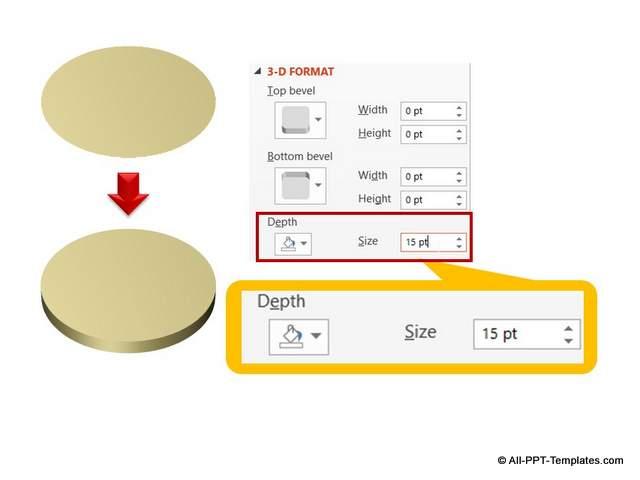 Adding depth to 3D circle