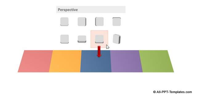 Adding perspective to 3D steps