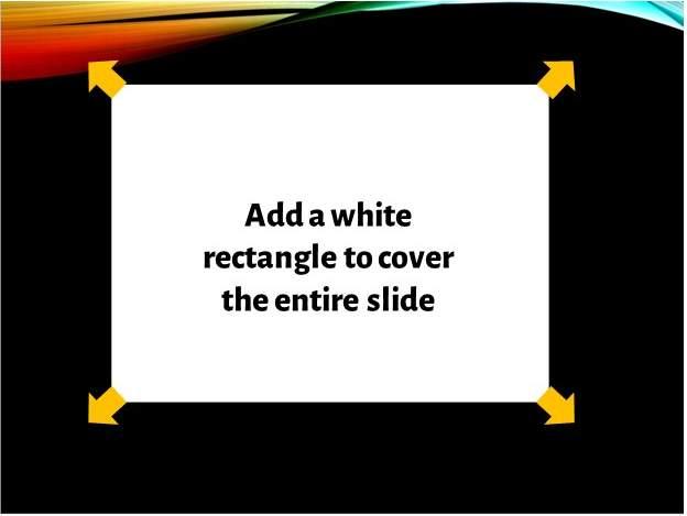 Adding White background to slide