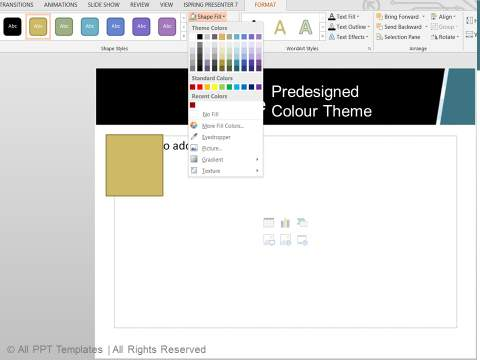 Professional Predesigned Color Theme