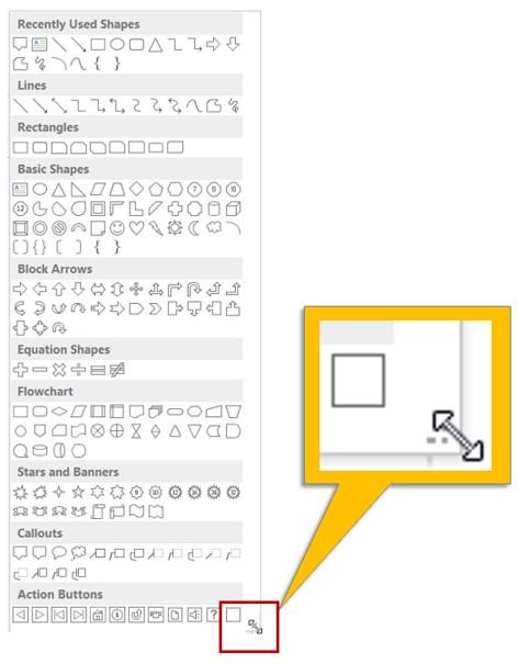 Autoshapes Menu Box Handle