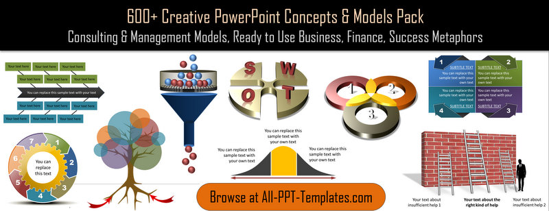Download 600 PowerPoint Concepts and Models