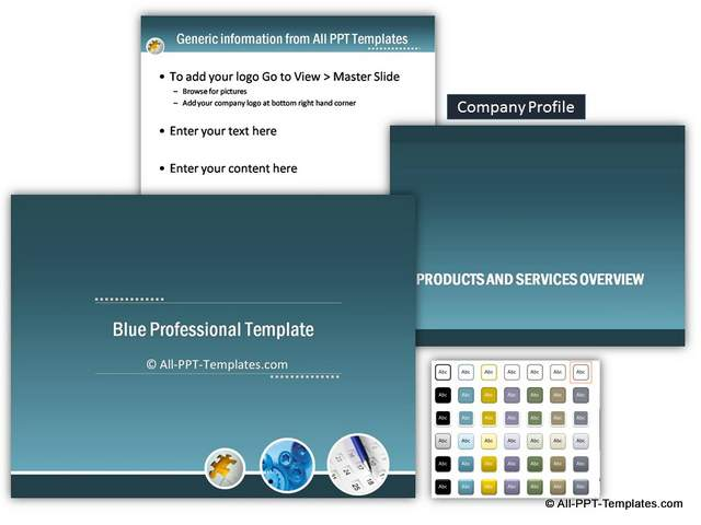 Blue Professional Introduction Template