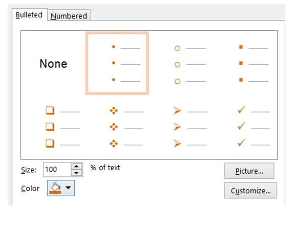 Bullet Color Change in PowerPoint