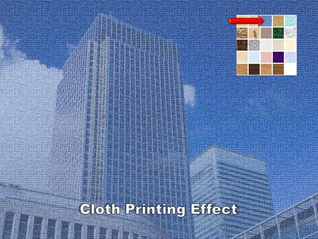 Cloth Printing Effect for Picture