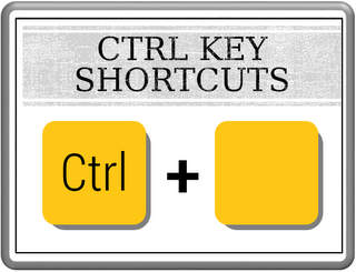 Control Key Short cuts