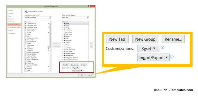 Create New Tab Option in PowerPoint