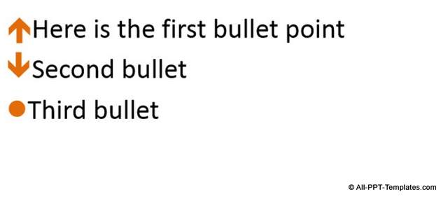 Creative PowerPoint Bullet Idea