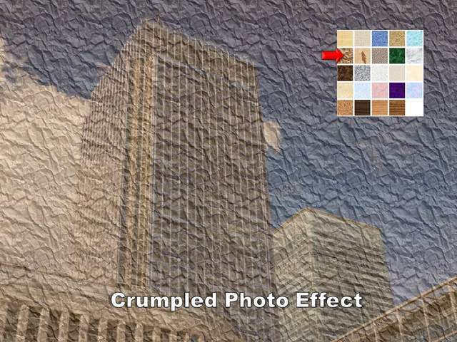 Crumpled Photo Effect