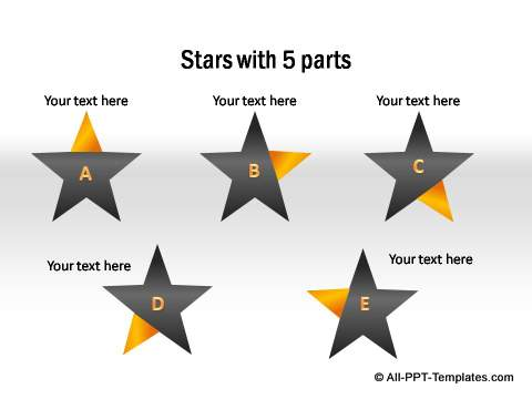 PowerPoint infographic Stars