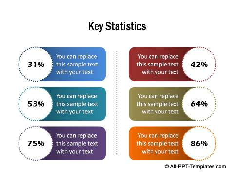 PowerPoint infographic key statistics