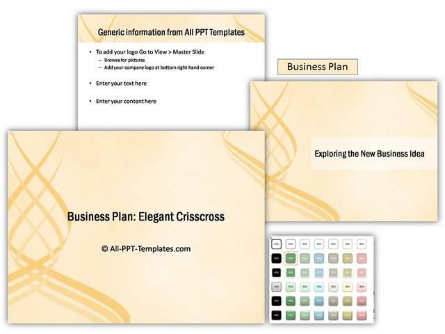 Elegant Crisscross PowerPoint Theme