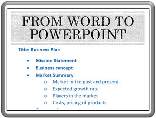 Convert from Word to PowerPoint