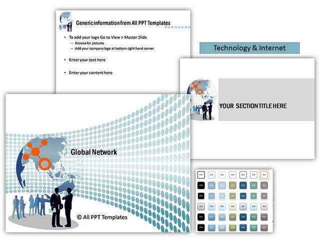 Global Network PowerPoint Theme