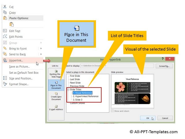 Hyperlink Menu Option in PowerPoint