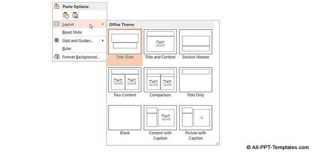 Layouts Available in Office