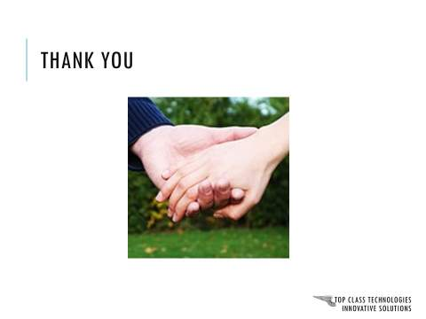 Corporate Presentation Thank You Slide : Before