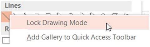 Lock Drawing Object Menu