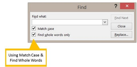 Match Case Option
