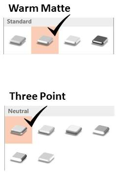 Default Material Options