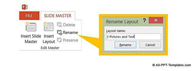 Naming New Custom Slide Layout