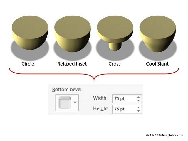 Increased 3D Bottom Bevel
