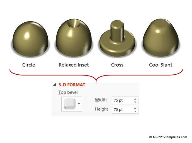 Increased PowerPoint 3D Top Bevel