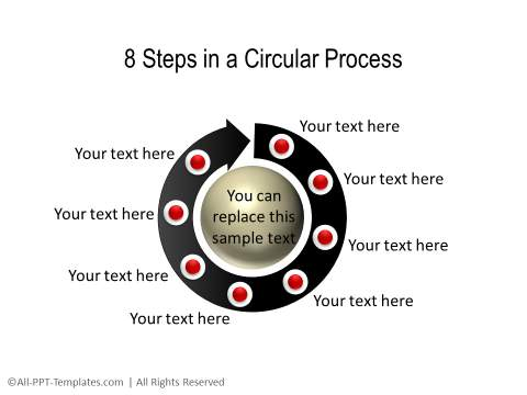 PowerPoint 3D Circle 03