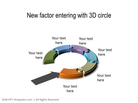PowerPoint 3D Circle 28