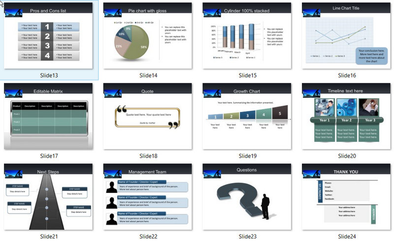 PowerPoint Bridge Construction Template 02