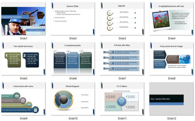 PowerPoint Building Construction Template 01