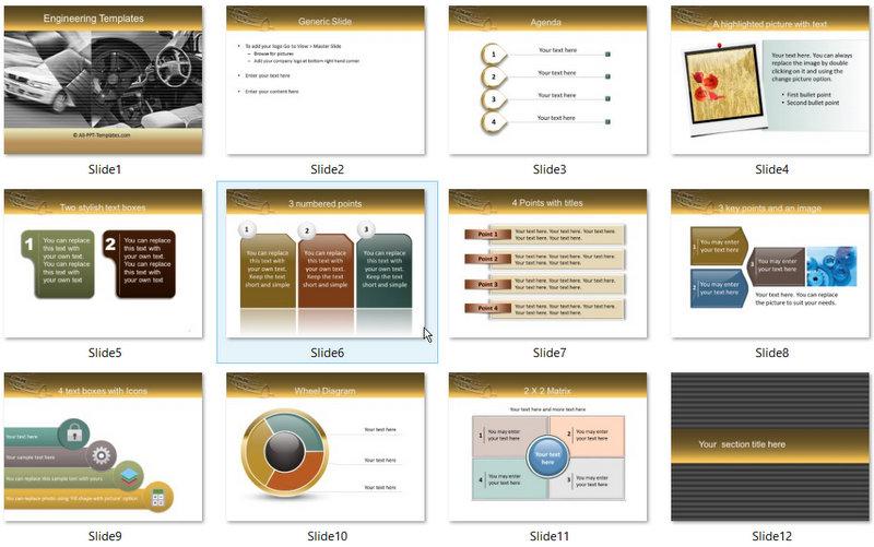 PowerPoint Car Design Template 01