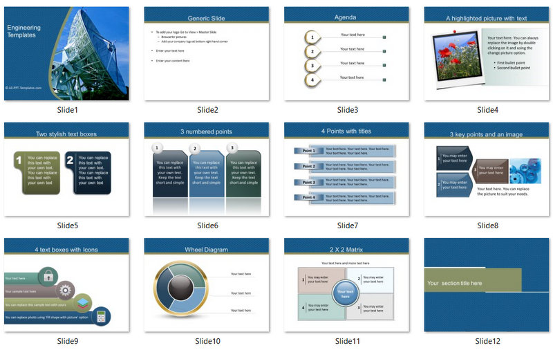 PowerPoint Communications Engineering Template 01