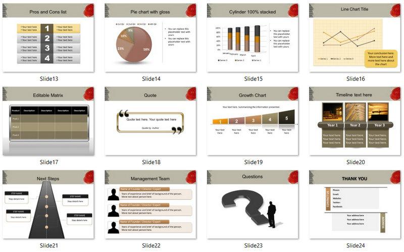 PowerPoint Construction Blueprint Template 02