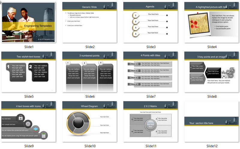 PowerPoint Construction Discussion Template 01