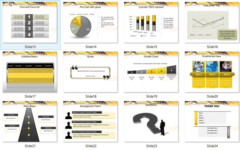 PowerPoint Engineering Gears Template (2) : 02