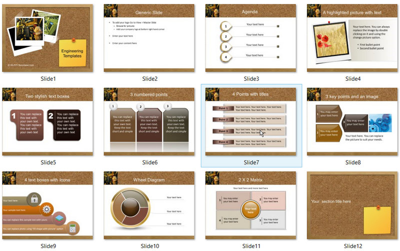 PowerPoint Engineering Photos Template 01