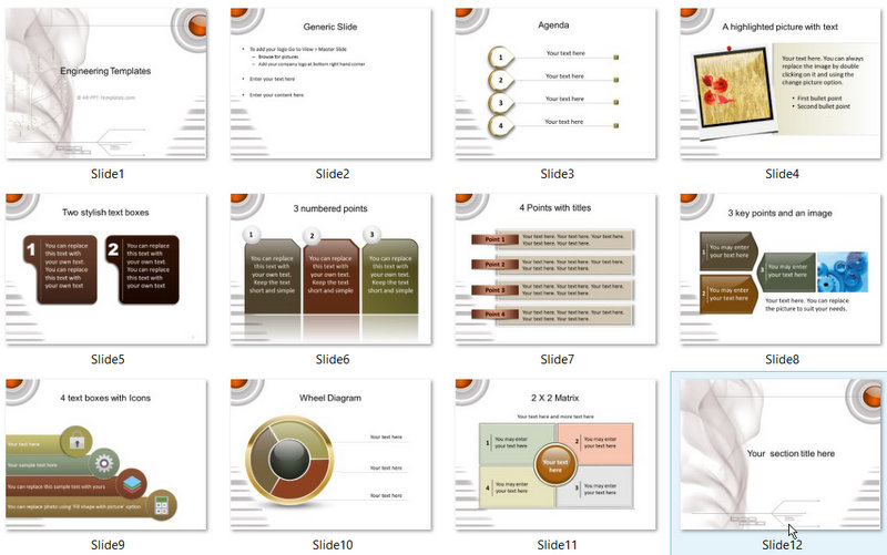 PowerPoint Engineering Technical Template 01