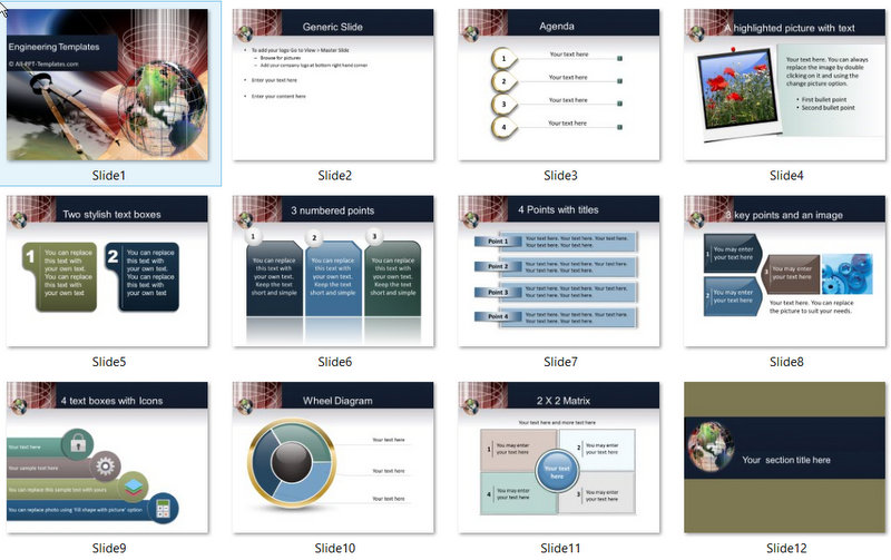 PowerPoint Engineering World Template 01