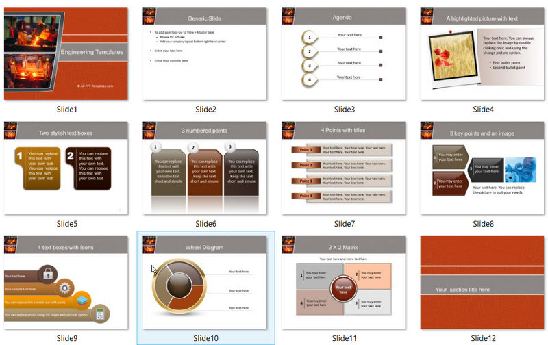 PowerPoint Heated Metal Template 01